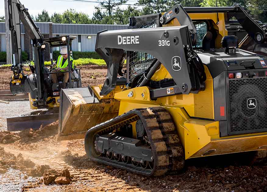 John Deere 331G Compact Construction Equipment working on a job site